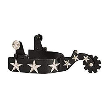 Western Sporen Black Steel mit Sternen