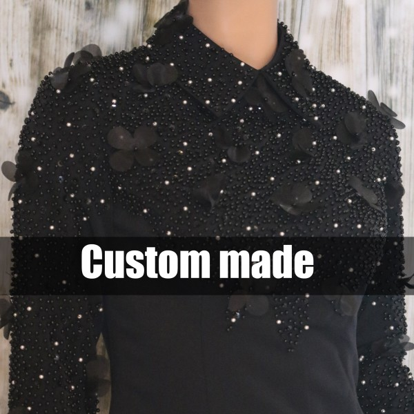 "Showshirt ""Beaded Flower"" Custom Made"