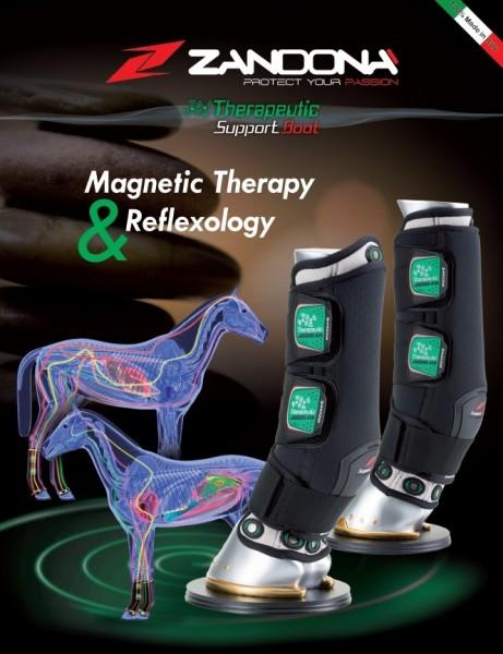 Magnet-Therapie Gamaschen Front in schwarz von Zandona