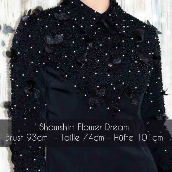 "Showshirt ""Beaded Flower"""