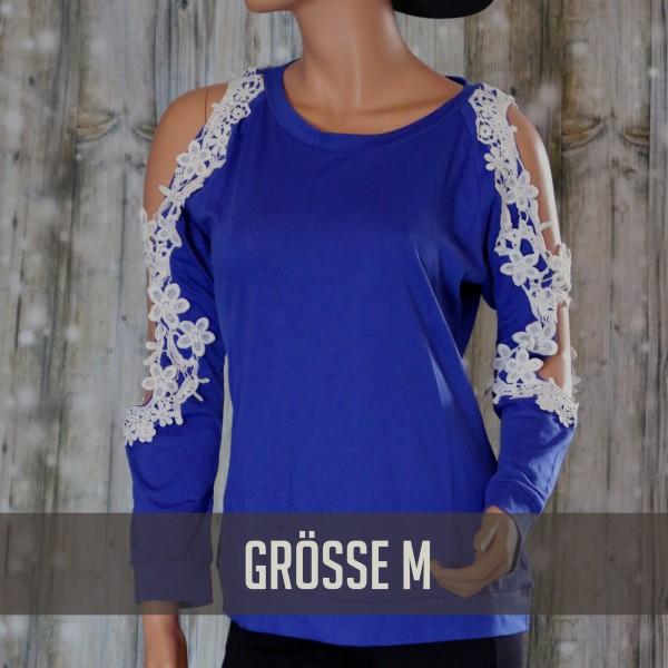 Langarmshirt Blau M
