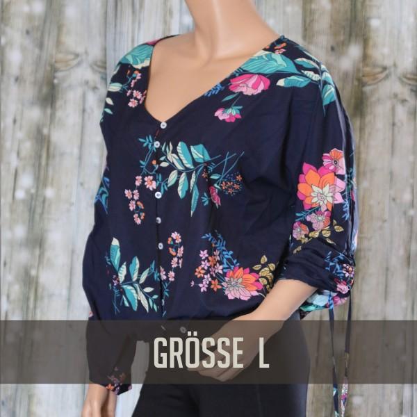 Blaue Sommerbluse GR L