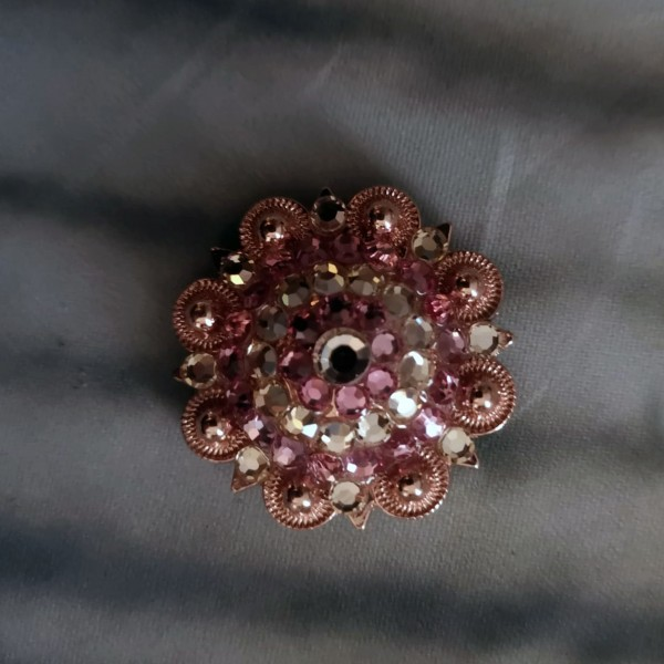 "Concho Rose 1"" Strass"