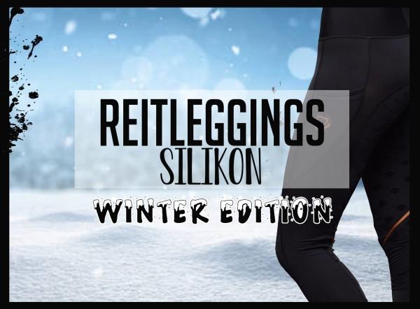 Reit-Leggings mit Silikonbesatz Winter gefüttert