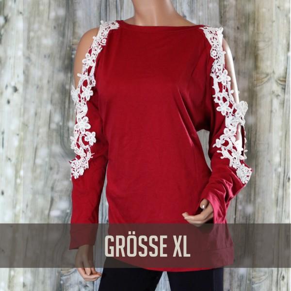 Langarmshirt Rot XL