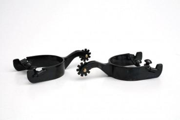 Western Sporen Black Steel