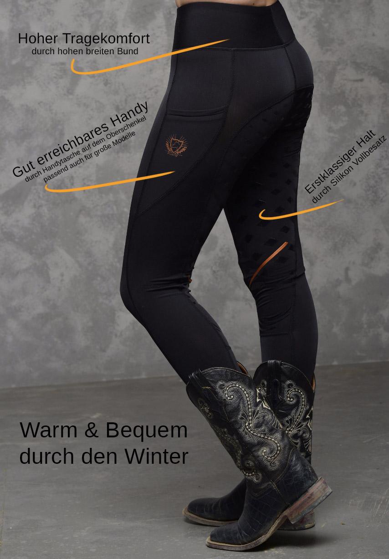 attraktive Farbe limitierte Anzahl exzellente Qualität Reit-Leggings Winter gefüttert