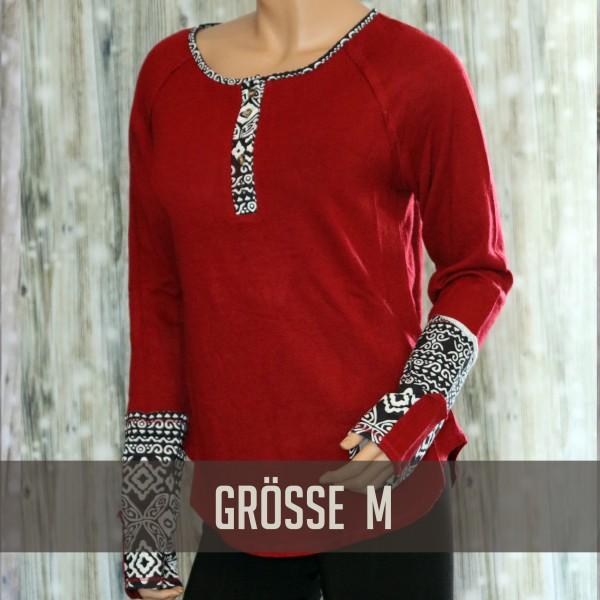Rotes Langarmshirt L