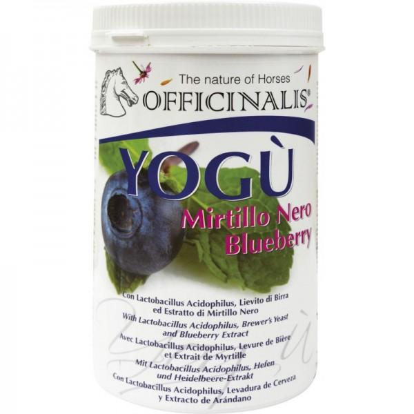 """""""Yogù"""" Ergänzungsmittel für Pferde reich an konzentrierter Hefe, Lactobazillen, Milchpulver und Blaubeeren."""