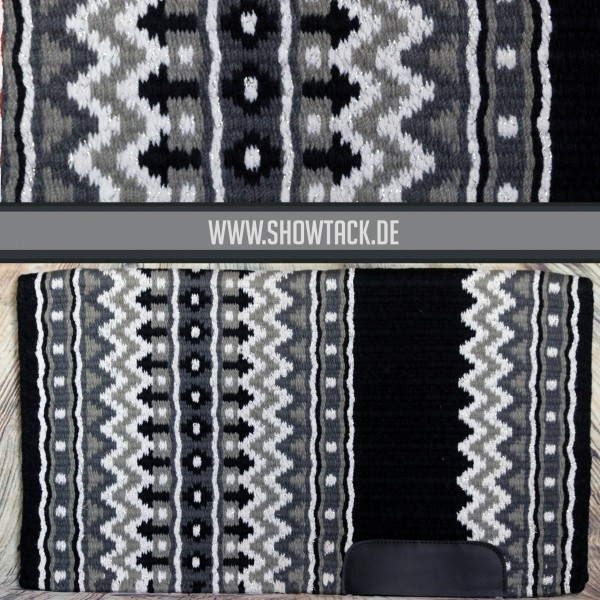 Western Showblanket Schwarz Weiß Silber
