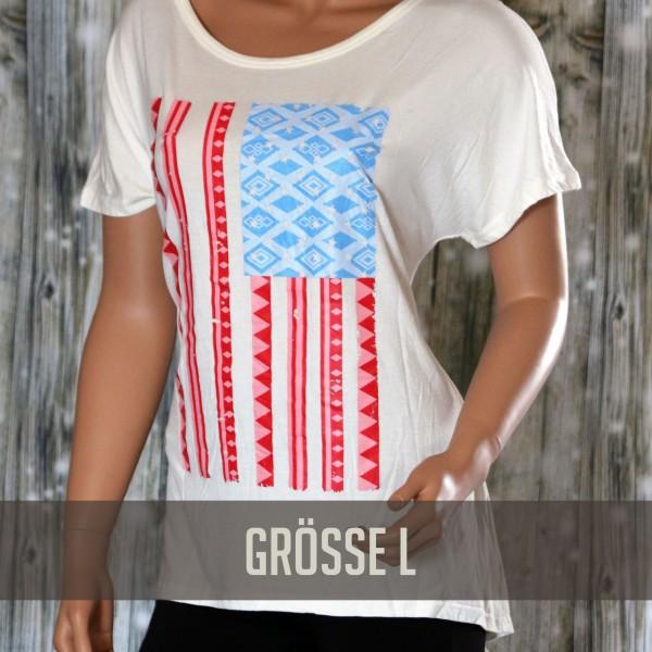 Tshirt USA Pattern gr.L