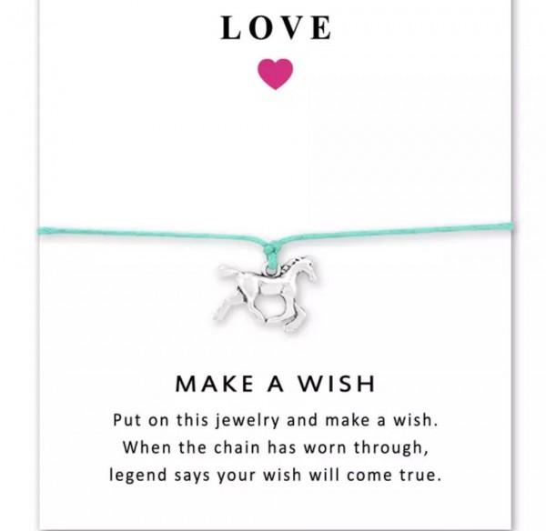 """Make a Wish"" Armband Pferd"